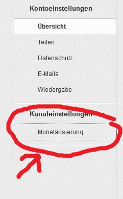 Youtube Kanal Monetarisierung